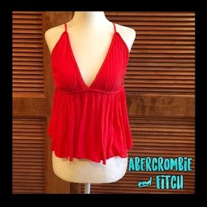 🌸NWT🌸Abercrombie & Fitch adorable red cami top